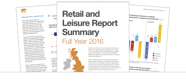Retail and Leisure (Full Year 2016) Summary Report