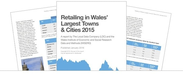 Retailing in Wales' Largest Towns & Cities 2015