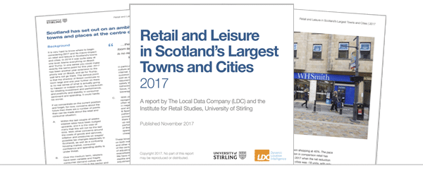 Retailing in Scotland's Largest Towns and Cities 2017 (Summary)