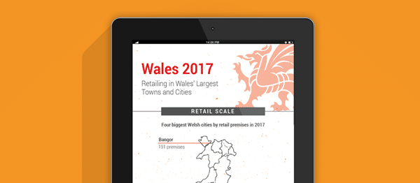 Retailing in Wales' largest towns and cities 2017