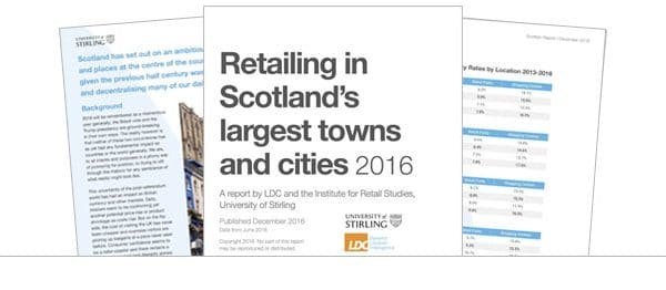Retailing in Scotland's largest towns and cities 2016