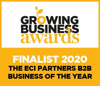 Growing Business Awards Finalist 2020 - The ECI Partners B2B Business of the Year