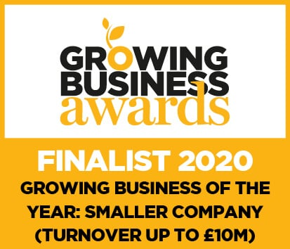 Growing Business Awards Finalist 2020 - Growing Business of the Year: Smaller Company (Turnover up to £10m)