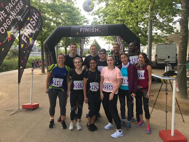 LDC staff do a 10k run to raise money for the Alzheimer's Society